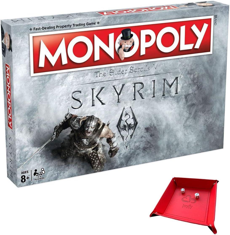 Skyrim Monopoly Juego de Mesa. Incluye una única Bandeja Plegable para Jugar con el Juego: Amazon.es: Juguetes y juegos