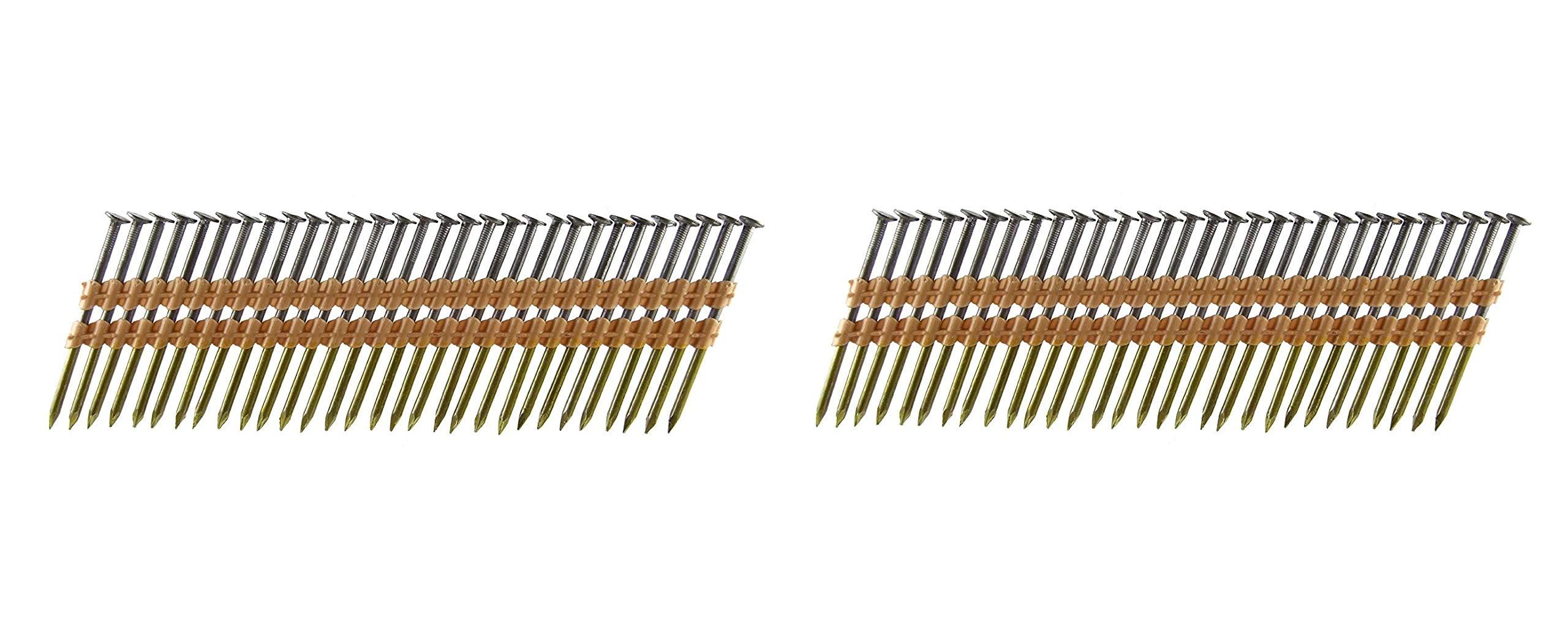 B&C Eagle A312X131/22 Round Head 3-1/2-Inch x .131 x 22 Degree Bright Smooth Shank Plastic Collated Framing Nails (2 X 500 per Box)