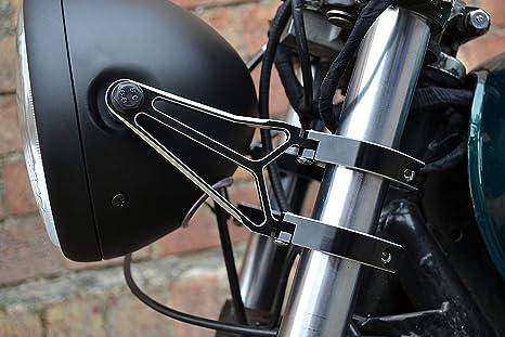 38mm Razor Stil Hochwertig CNC Bearbeitet Aluminium Paar Gabel Montiert Motorrad Scheinwerfer-Halter 37mm