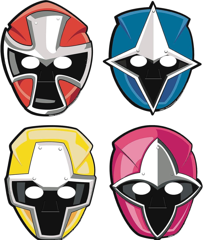 Amazon.com Power Rangers Samurai Paper Masks / Favors 18ct Clothing
