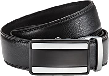 Eg-Fashion Herren Anzug Gürtel mit Automatikschließe 3,5 cm Breite - Individuell kürzbar - Stufenlos verstellbar