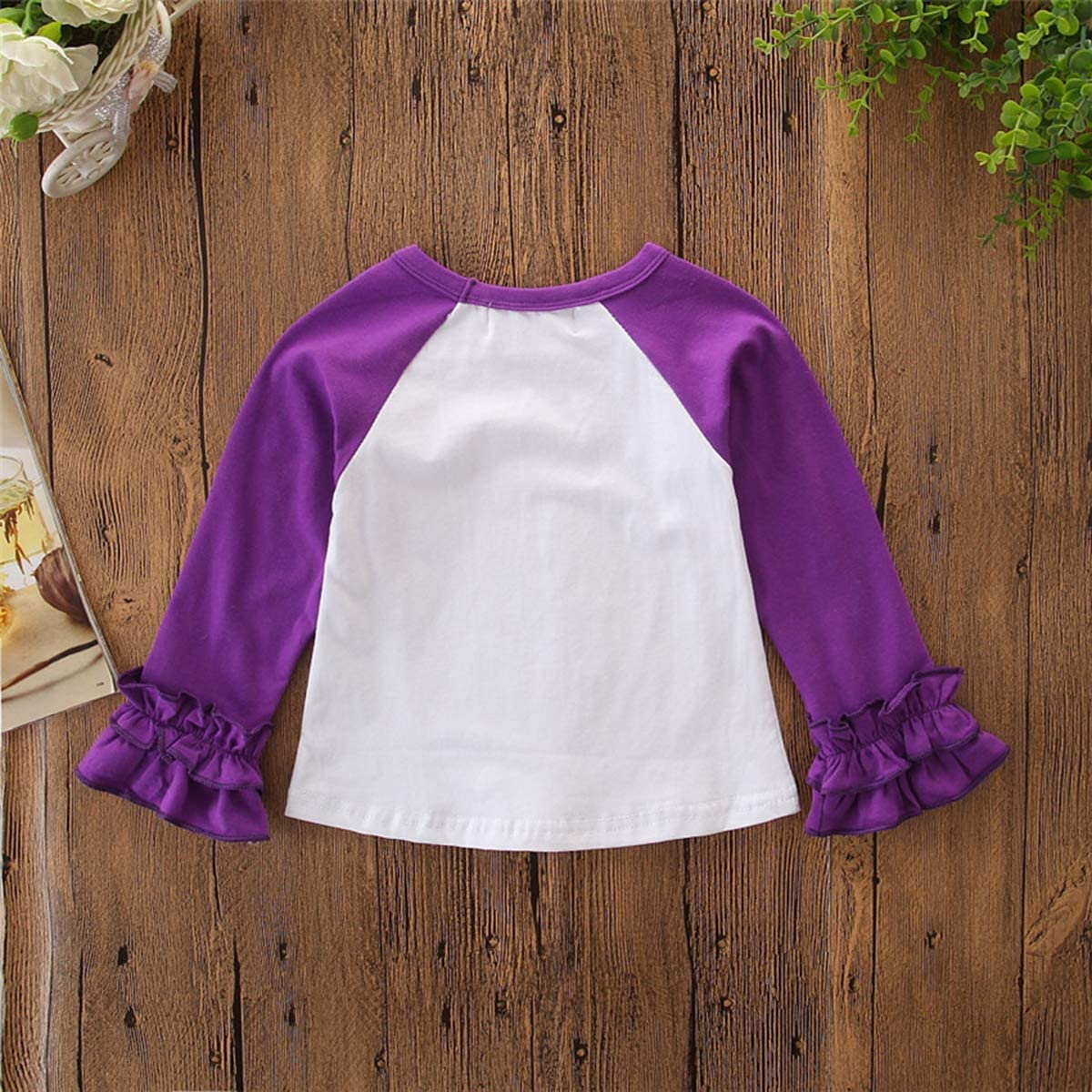 Toddler Baby Kids Girl Halloween Pumpkin Print Long Sleeve Cotton T-Shirt Top