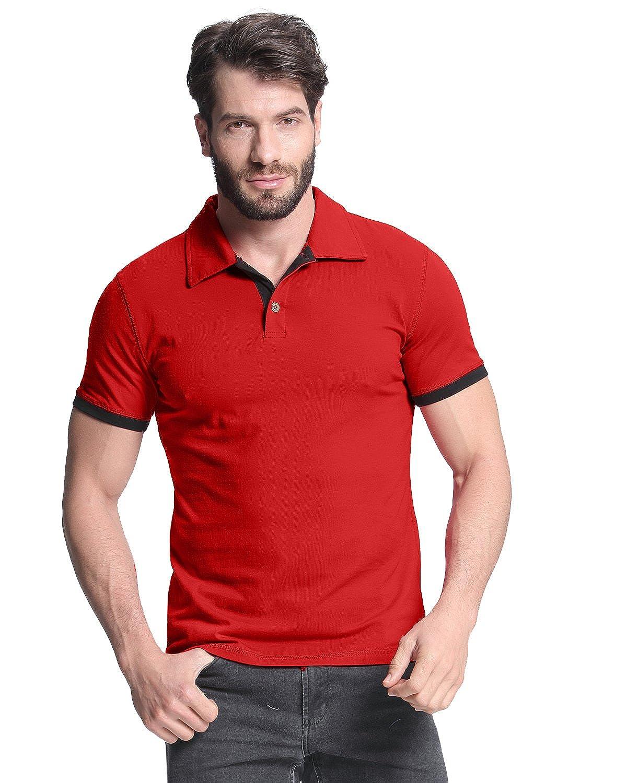Ecko Unltd Men's Wallburner Solid Color Rugby Polo Shirt indigoblue L
