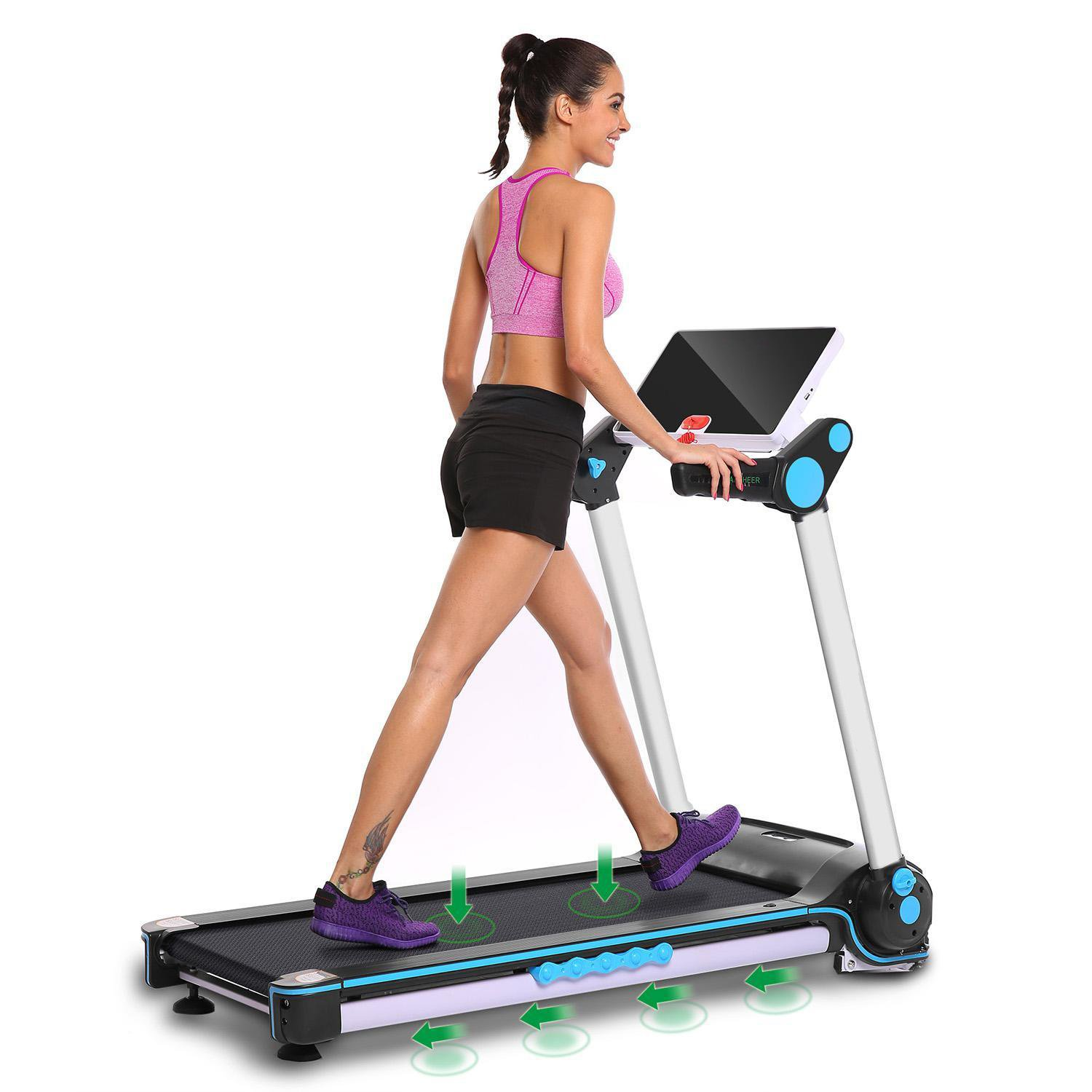 Garain S6400 Folding Electric Treadmill, Bluetooth App Control Touch Screen Exercise Equipment Walking Running Machine Home Fitness Treadmills (US STOCK) by Garain (Image #6)