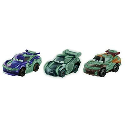 Disney Pixar Cars Mini Racers Glow-in-the-dark Series 3-Pack: Toys & Games