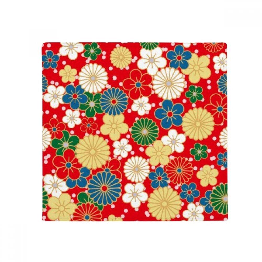 DIYthinker Art Sakura Flowers Japan Japanese Style Anti-Slip Floor Pet Mat Square Home Kitchen Door 80Cm Gift