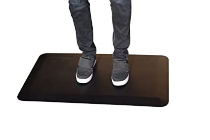 Thick Cushioned Anti Fatigue Floor Mat For Office Standing Desk Kitchen  Garage Warehouse 20x34x1.