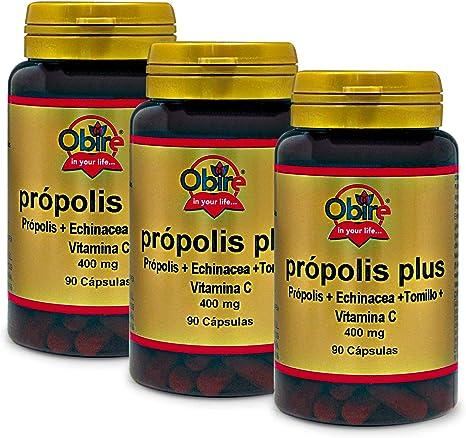 Própolis plus 400 mg 90 cápsulas. (Pack 3 unid.): Amazon.es: Salud ...