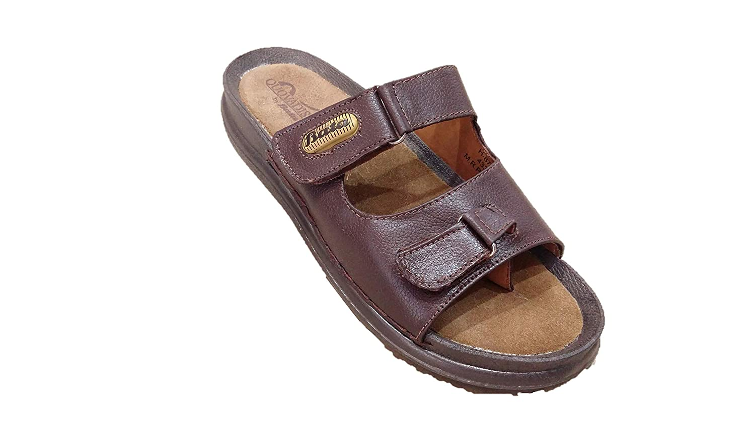 Buy BATA Brown Leather Chappal for Men