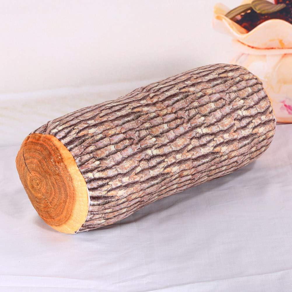EBTOOLS Cuscino a Forma di Ceppo Albero Cuscino Tronco Cuscino Interno Divertente 37 x 17 cm