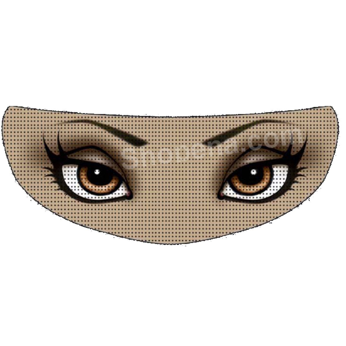 SkullSkins Babydoll 2 Lady Brown Eyes Universal Full Face Motorcycle Helmet Windscreen Graphic Visor Tint Shield Sticker Decal