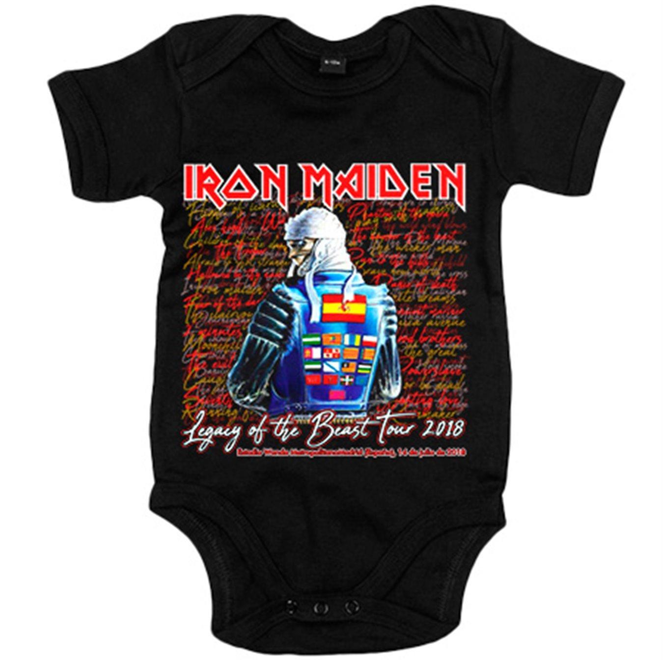 Body bebé Iron Maiden Tour 2018 Madrid - Blanco, 6-12 meses ...
