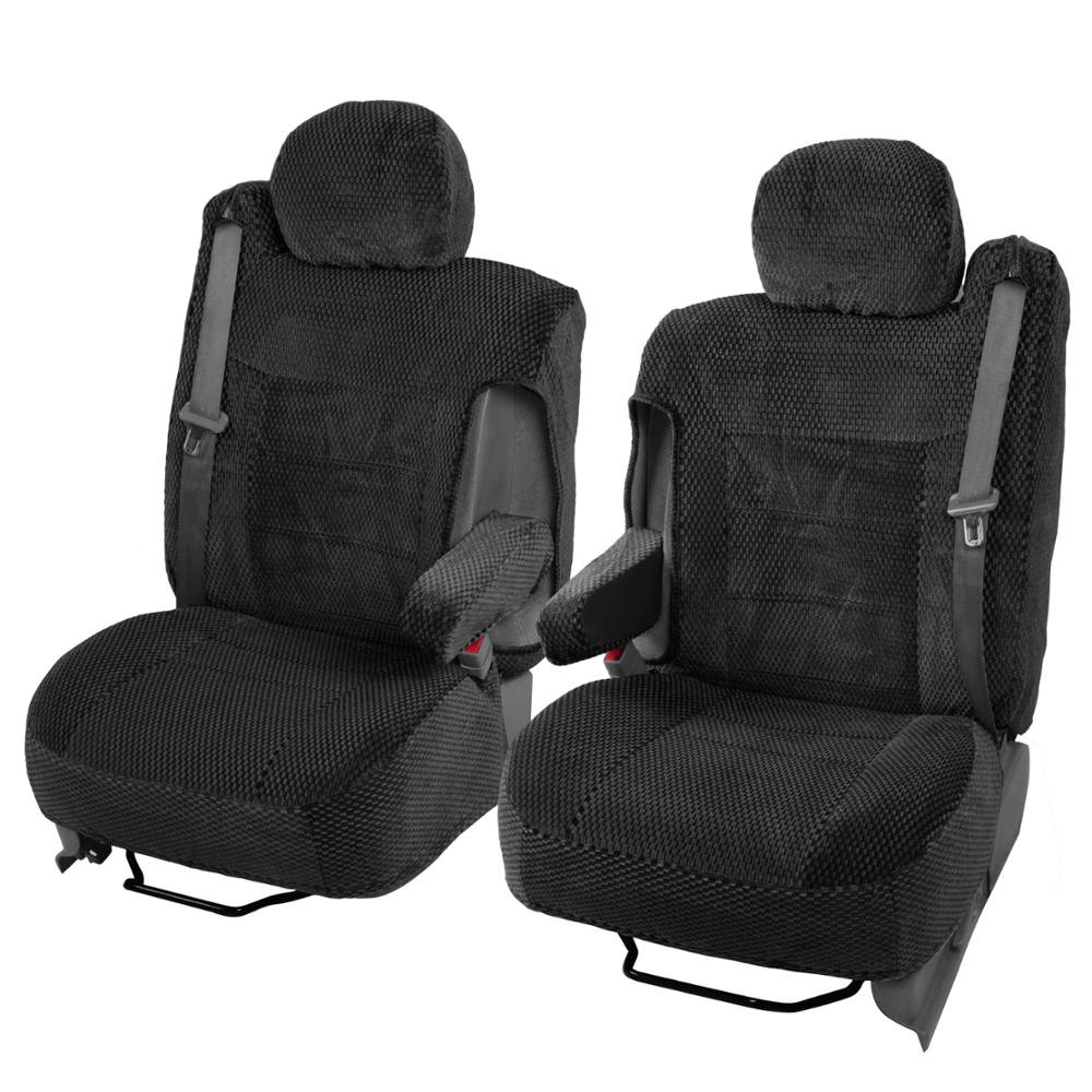 Amazon.com: Scottsdale Cloth Front Seat Covers for Trucks SUV Integrated  Armrest TS (Black): Automotive