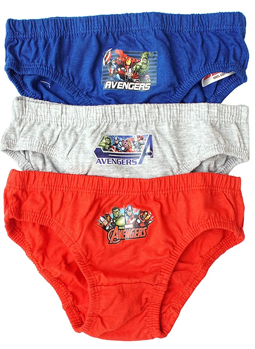 Boys Pack of 3 Marvel Avengers Hulk Slip Briefs Cotton Underpants Sizes from 3 to 8 Years