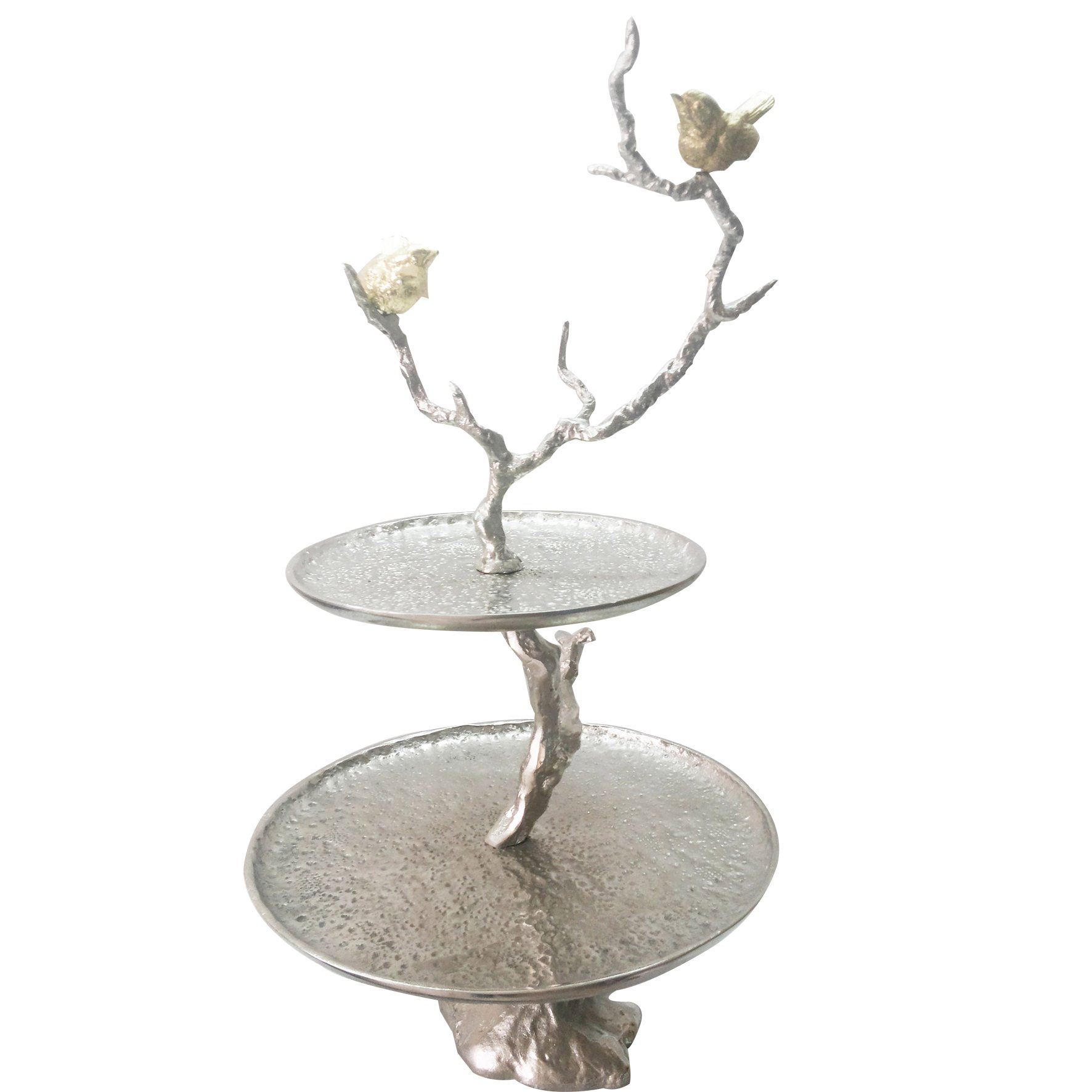 A&B Home Iron Branch Décor with 2 Tiered Tray