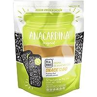 12 pack Pouch Anacardina Original. Crema de nuez de la india natural en presentación snack individual. Cashew butter ¨on the go¨.