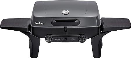 Enders® Gasgrill URBAN, Tischgrill, Grillen , Kochen und Backen Funktion, 2 Brenner Edelstahl, kleiner Grill mit Grill Thermometer, Balkon Grill,