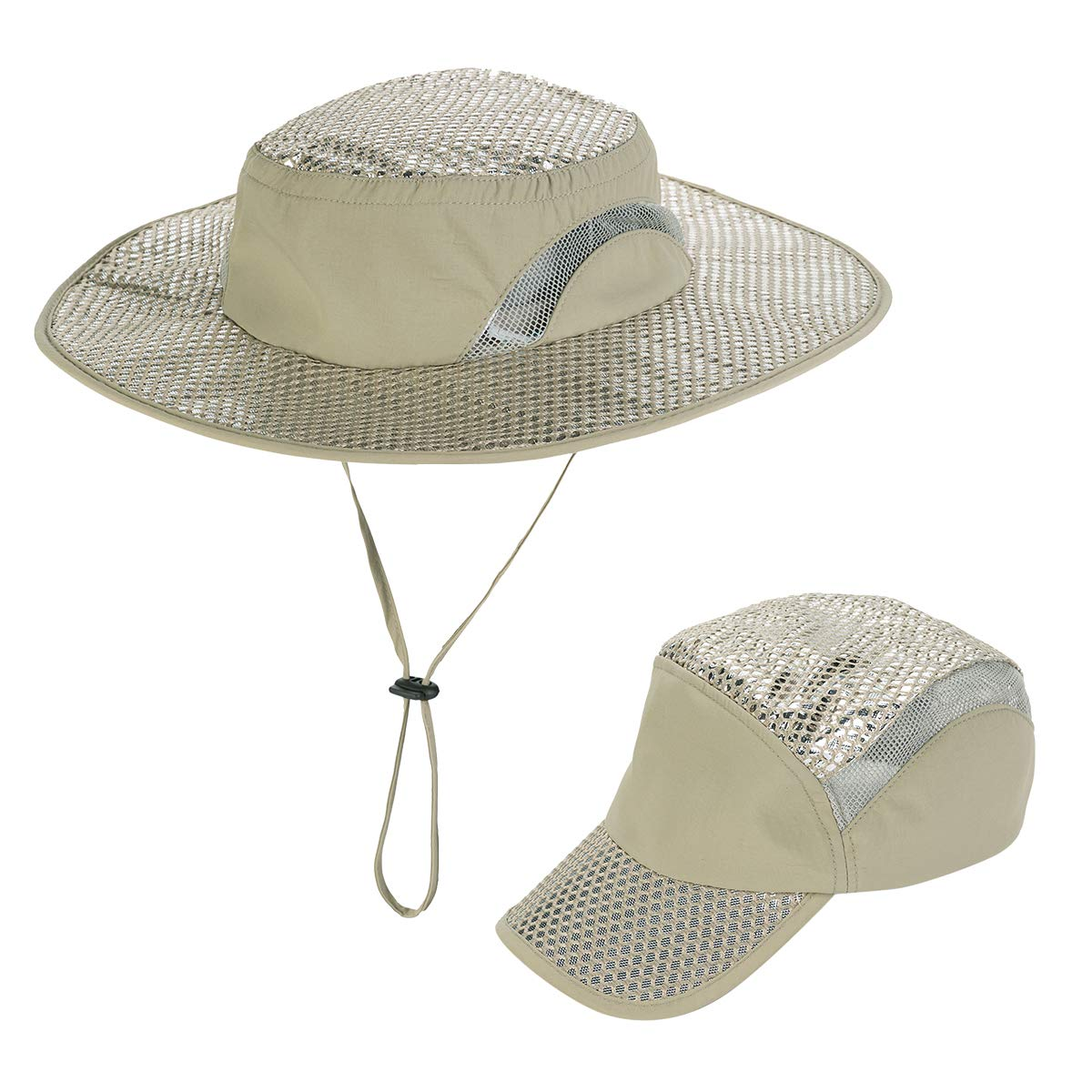 YR.Lover Arctic Cooling Hat Summer Fishing Hat Breathable Cap Outdoor UV Protection Hat for Men Women