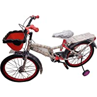 Global Bikes Spider 20T Fully Adjustable with Back Carrier Bicycle for Kids Age 7 to 12 Years (Red)
