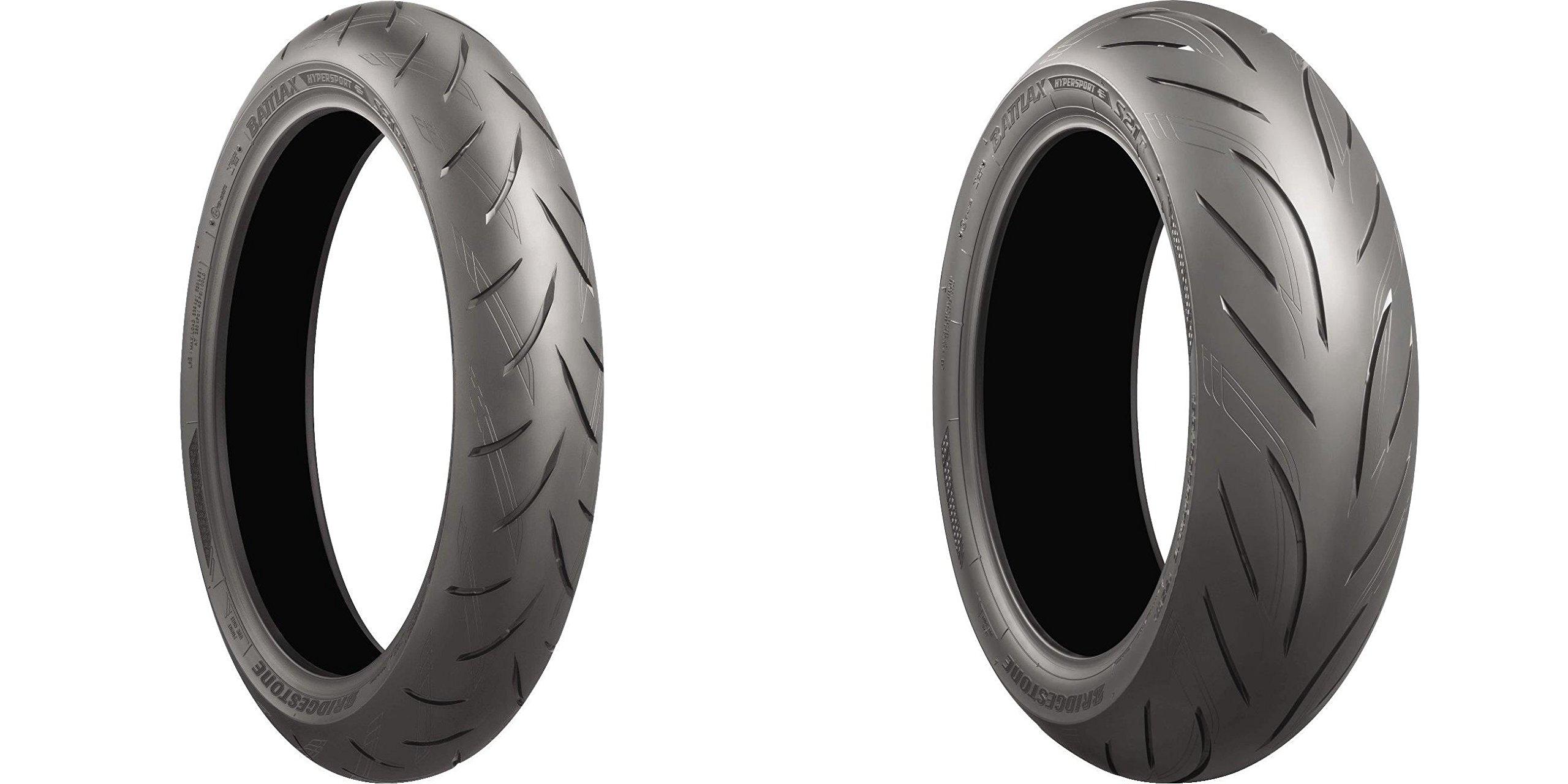 BRIDGESTONE Battlax S21 Hypersport Street Front & Rear Tire Set, 120/70-17 58W & 180/55-17 73W by Bridgestone (Image #3)