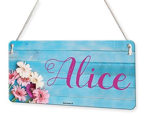 Amazon.com: Placa con el nombre de las flores en madera para ...