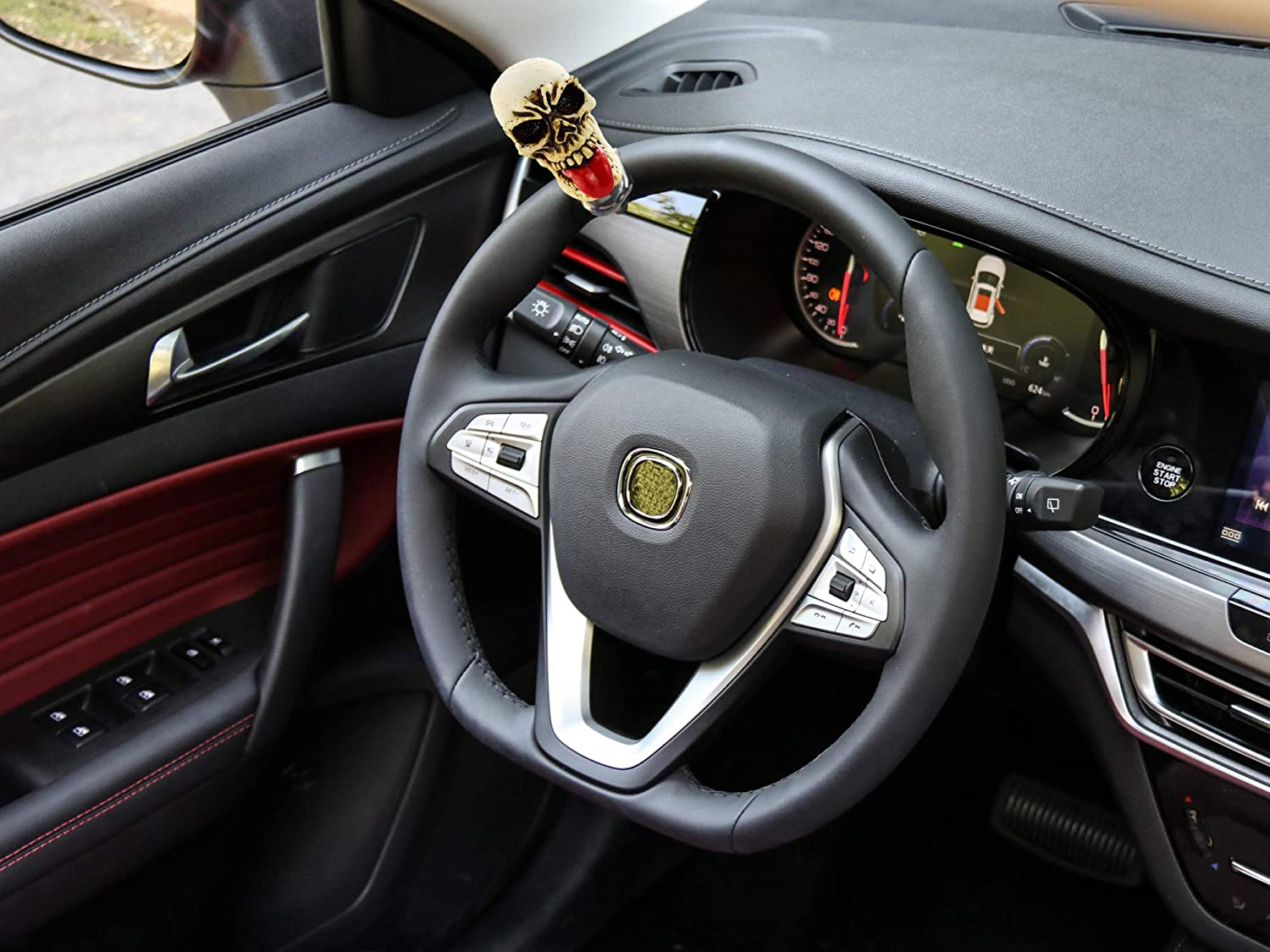 Gold Bashineng Steering Wheel Ball Fist Shape Power Handle Suicide Control Spinner Knob Fit Most Truck SUV Cars