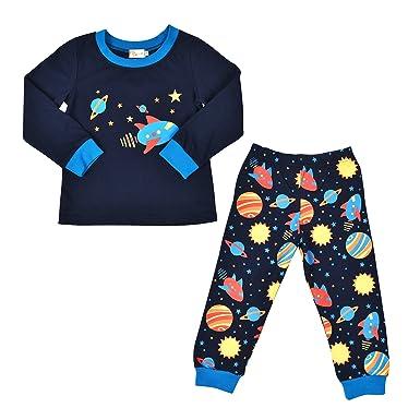 3cc6659aeb Tkria Boys Pyjamas Set Kids Outfits Toddler-Space Pjs Toddler Shirt Pants  Sleepwear Clothes Set  Amazon.co.uk  Clothing