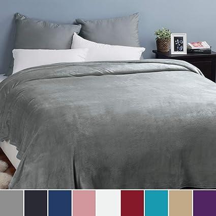 Bedsure Manta para sofá y Cama Grande 230x270cm, Gris ...