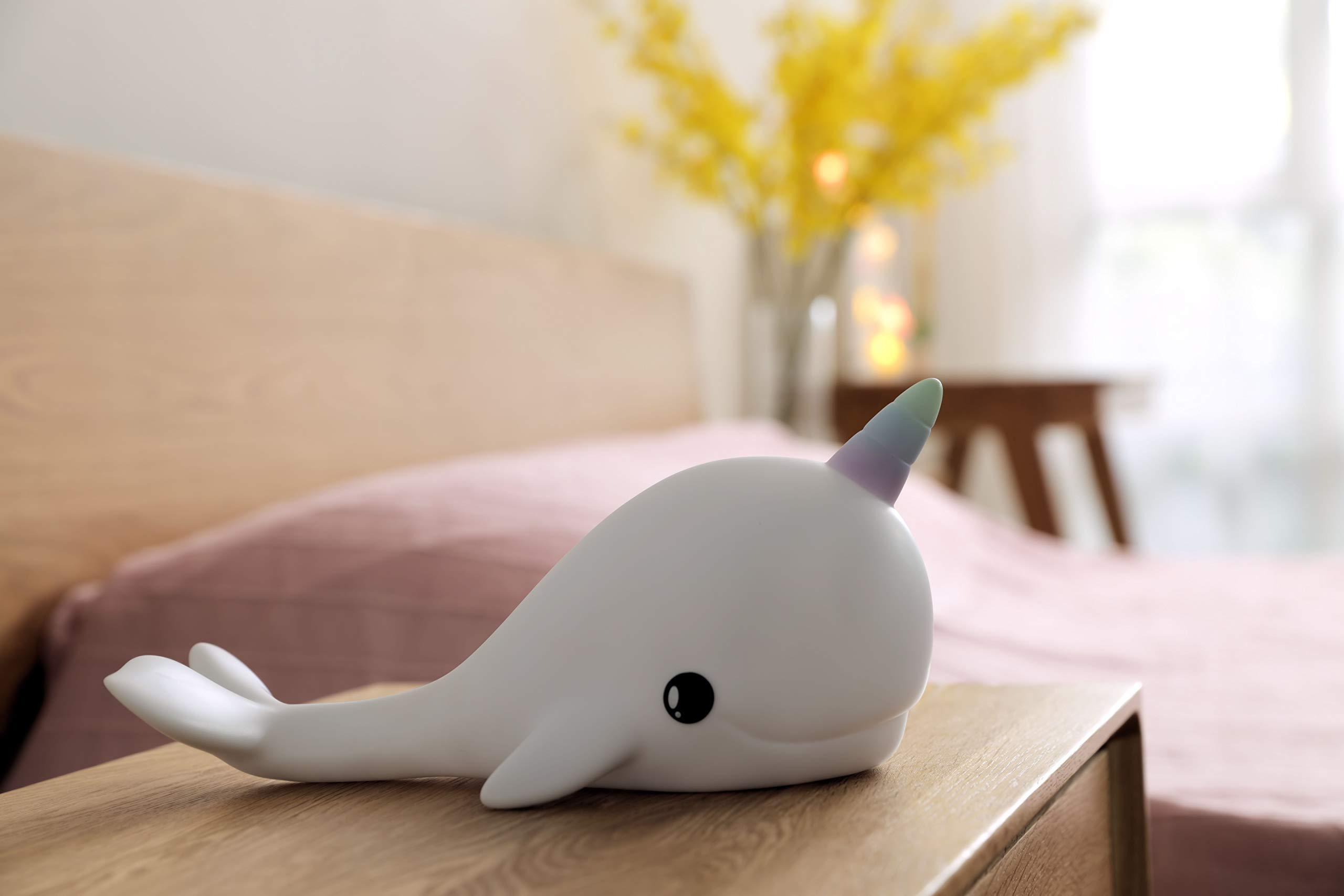 Dhink Narwhal Night Light Touch Lamp Rechargeable with Timer Function and Dimmer- Multi Color and White Light by [D]hink (Image #2)