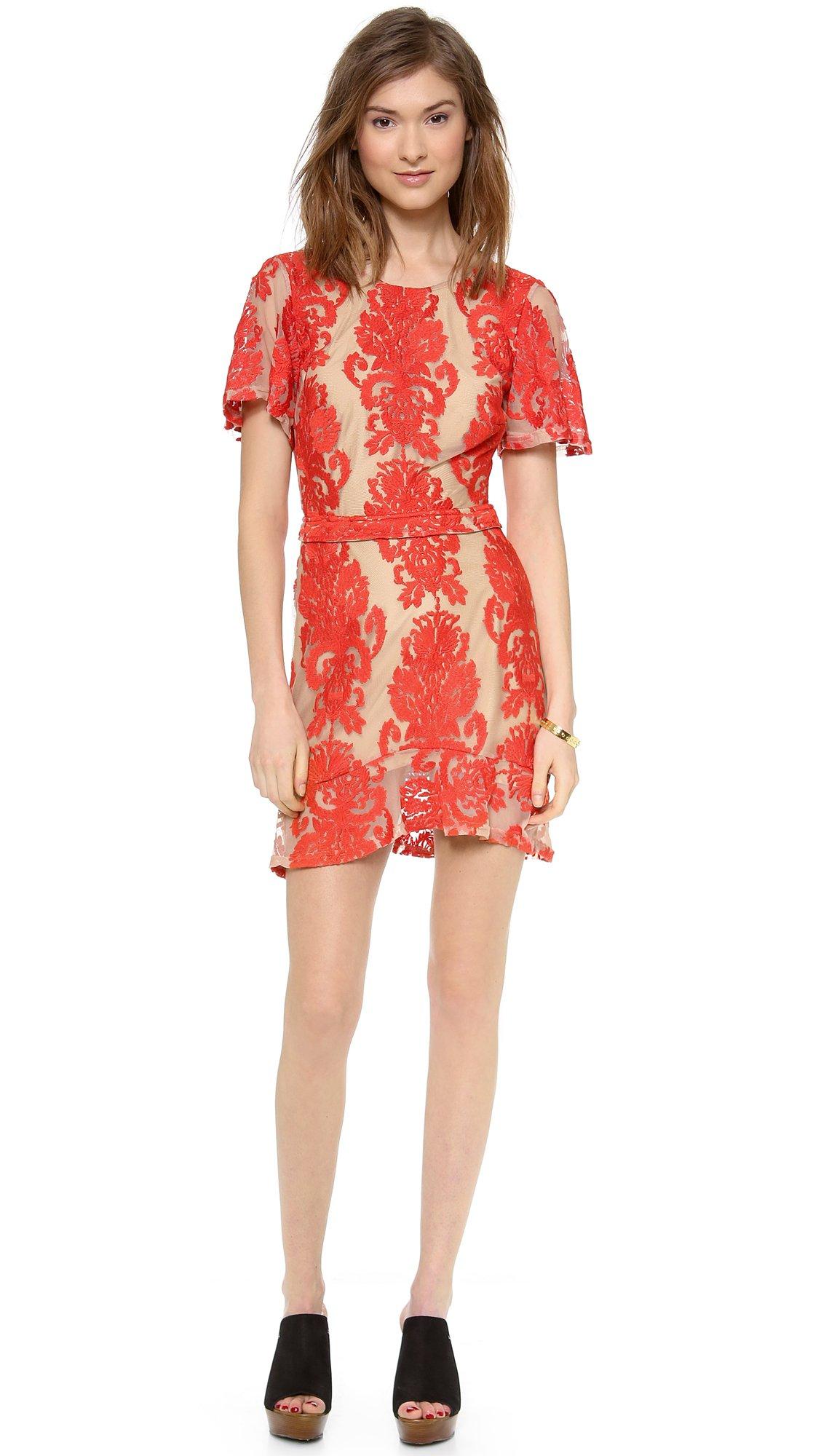 For Love & Lemons Women's San Marcos Mini Dress, Red, Small