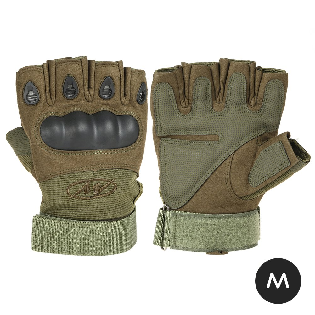 Military Grade Half Finger Tactical Protection Leather Gloves - DeluxeAdultCostumes.com