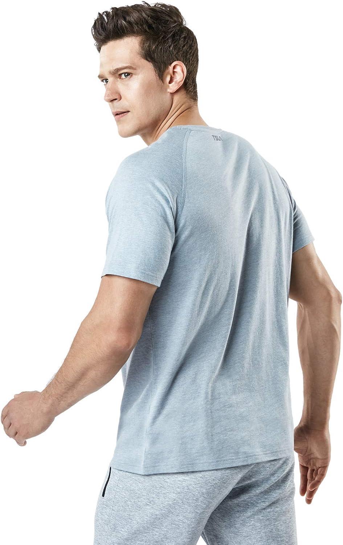 TSLA T-Shirts for Men Dynamic Cotton Short Sleeve Athletic T-Shirt Cool Top