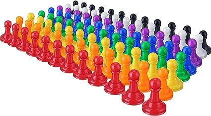96 Piezas 1 Pulgada de Piezas de Peones de Ajedrez de Plástico de Multicolor para Juegos de Mesa, Componentes, Marcadores de Mesa, Artes y Artesanías: Amazon.es: Oficina y papelería