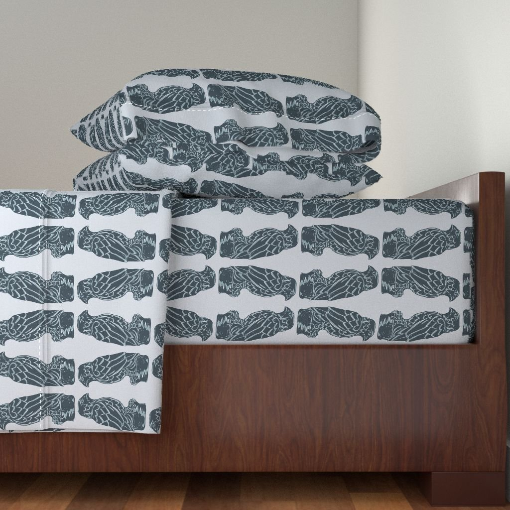 Roostery Film Noir 4pc Sheet Set Maltese Falcon - Film Noir by Elramsay King Sheet Set made with