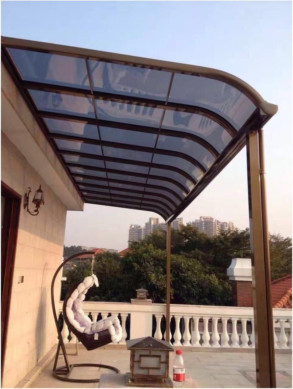 ClearYup 10 x 18 Panel de Patio Manual Parasol Refugio toldo de Aluminio con Carcasa Trasera de policarbonato para Patio, Heavy Duty Puerta Rectangular: Amazon.es: Jardín