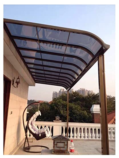 Charmant 10u0027 X 20u0027 Patio Cover Polycarbonate Patio Manual Sun Shade Panel Shelter  Door Cover