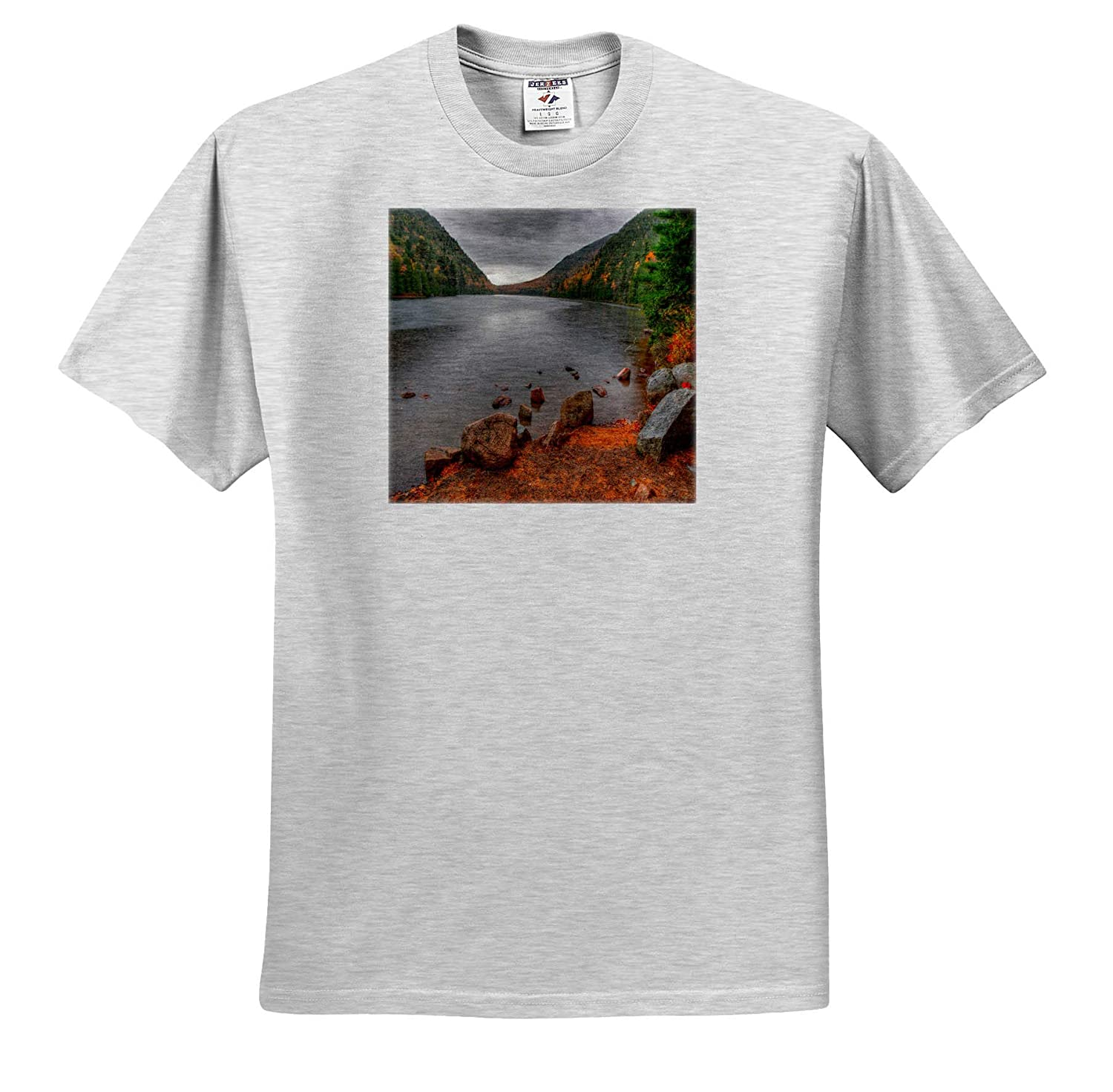 Cloudy Skies Over Lake Adult T-Shirt XL Landscapes ts/_317146 3dRose Mike Swindle Photography