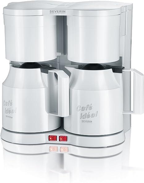 SEVERIN KA 5827 Cafetera Doble para filtros de Café Molido, 2 x 8 ...
