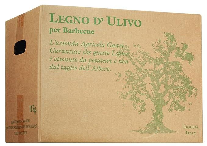 Olio Roi - Madera de Olivo Para Asar en caja de cartón (10 kg): Amazon.es: Jardín