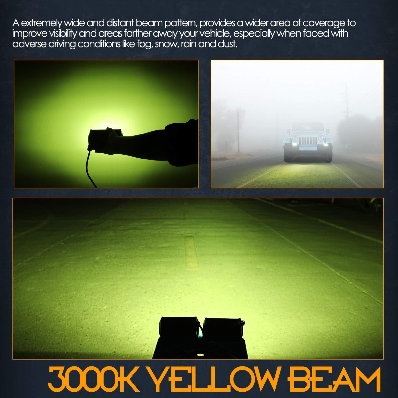 RGB LED Rock Lights 4 Pack Nirider Underglow LED Light Kit Neon Lights Waterproof Bluetooth Lights RGB Rock Lights for Truck Jeep Car Off Road ATV UTV Motorcycle Boat