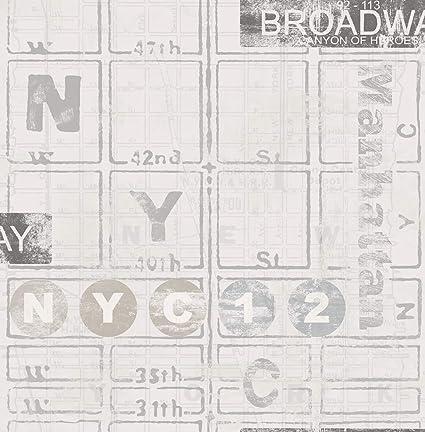 Wallpaper Nyc New York Broadway Street Map Manhattan Amazon Com