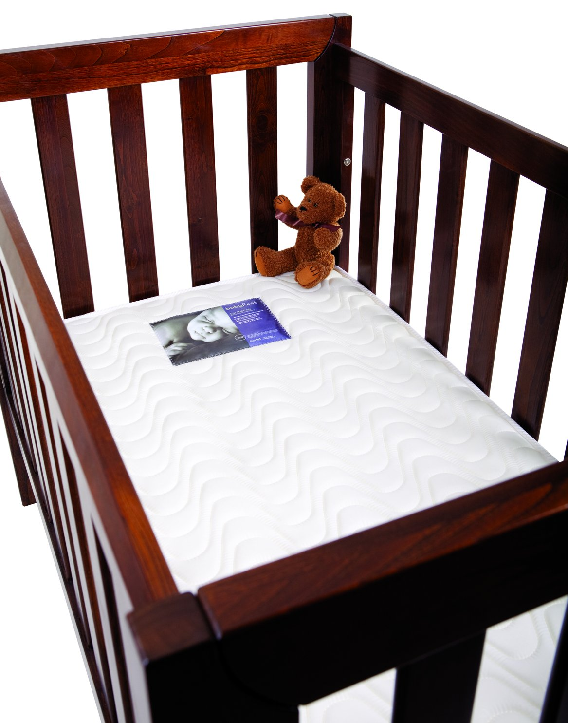 BabyRest Deluxe Innerspring Double Quilted Cot Mattress 1300 x 660 x 125mm Bab