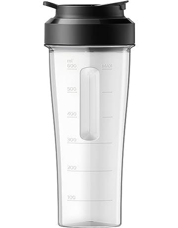 Philips Batidora HR3660/55 Vaso Portátil 0.6 litros, Negro, Transparente