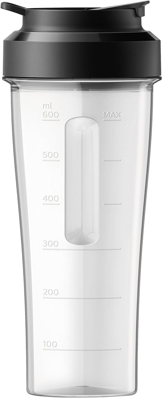 Philips Batidora HR3660/55 Vaso Portátil, 0.6 litros, Negro, Transparente