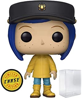 5986e7c46877ae Funko Pop! Movies: Coraline - Coraline in Raincoat Limited Edition Chase  Variant Vinyl Figure