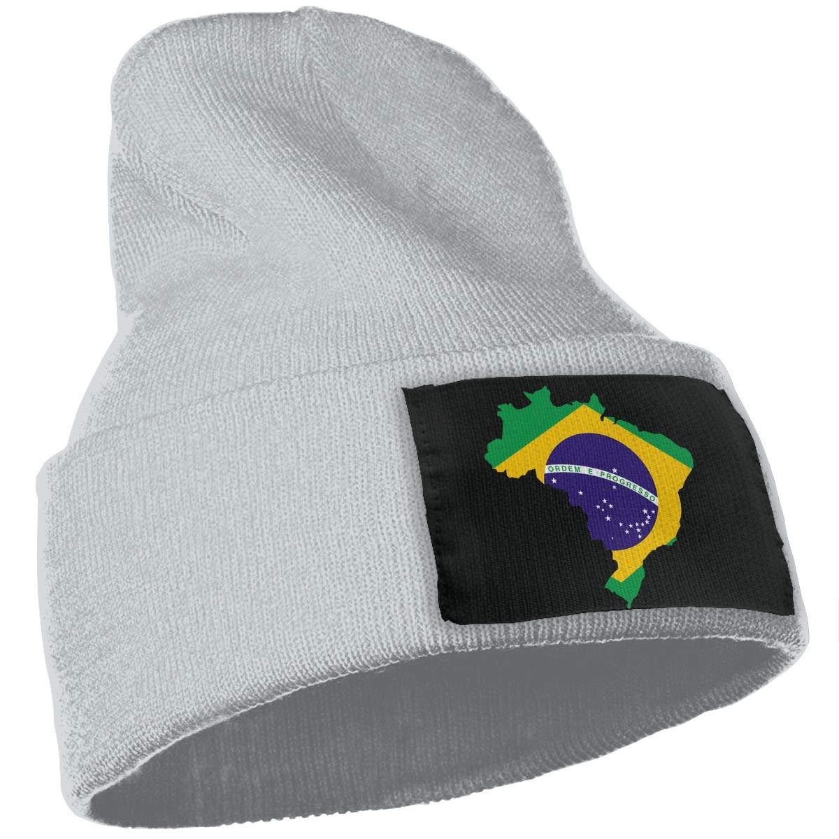 SLADDD1 Brazil Map Warm Winter Hat Knit Beanie Skull Cap Cuff Beanie Hat Winter Hats for Men /& Women