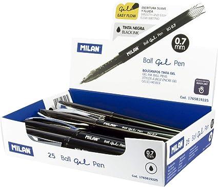 Milan 1765819225 - Pack de 25 bolígrafos: Amazon.es: Oficina y ...