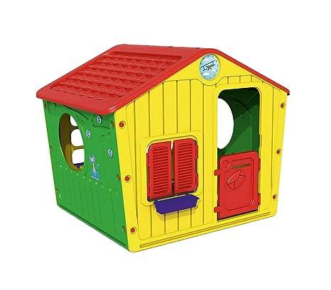 219584 Caseta de plástico para niños Galilee Village de jardín 140x108x115 cm