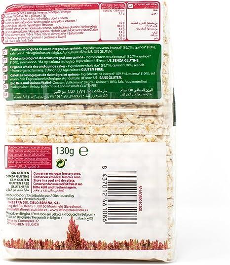 QUINUA REAL QR001 Soffiette de Arroz con Quinoa Real Bio Gluten Free - 130 gr.(Caja 12 Uds.) Total: 1560 g