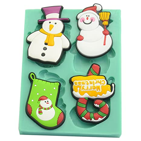 musykrafties Navidad colección Candy Fondant Chocolate molde de silicona para decoración de pasteles, Cupcakes,